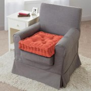 Velour Armchair Booster Cushion Terracotta by Coopers of Stortford