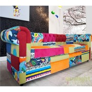 Canapea clasica stil englezesc Chesterfield Patchwork A-35018 VC
