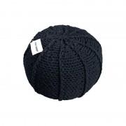Pletený puf CRAZYSHOP MELON, černý (ručně pletený)