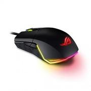Asus Mouse Gamer, ROG Pugio, óptico, ambidiestro con Botones Laterales configurables, Exclusivo diseño del Socket de conmutación Push-fit, iluminación Aura RGB con Soporte Aura Sync