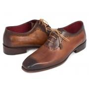 Paul Parkman Medallion Toe Oxford Shoes Brown & Camel GF61AZ