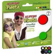 Set machiaj petrecere, pasta 5 x 40gr., ALPINO Mega Fiesta