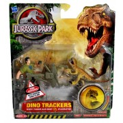 Hasbro Year 2009 Jurassic Park Dino Trackers Series Exclusive 4 Inch Tall Action Figure Set Desert Tracker Alan Grant With Working Dino Claw Vs. Velociraptor
