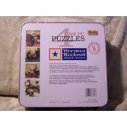Norman Rockwell Design Studio - Four 500-piece puzzles in one tin