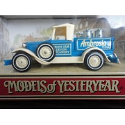 "Matchbox Models Of Yesteryear Y 35 B 1930 Model A Ford ""Ambrosia"" Blue And Ivory 1:40 Scale Diecast"