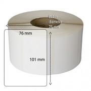 Etiketter på rulle, självhäftande, högblanka för bläck, 101-76 mm, 1000 st