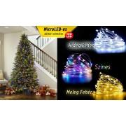10m-es Micro LED-es elemes fényfűzér (Hidegfehér)