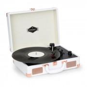 Auna Nostalgy by auna Peggy Sue Tocadiscos retro LP USB AUX blanco/aspecto de oro rosado