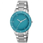 Woman Steel Watch Sky Blue Dail Girls Analog Watch