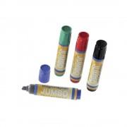 magnetoplan Flipchartmarker JUMBO Strichstärke 2 - 10 mm, VE 8 Stk farbig sortiert