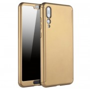 Husa Full Cover 360 folie sticla Huawei P20 Pro Gold