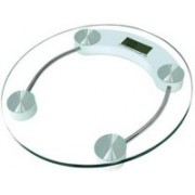 Urweigh Personal Weight Machine 8mm Thick Round Glass Weighing Scale(White)