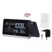 Statie meteo wireless Emos cu ceas alarma si proiectie luminoasa negru E8466