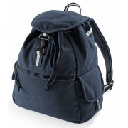 Quadra Vintage navy canvas rugzak 18 l