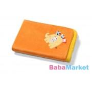 BabyOno 3D kétoldalas mikroszálas babatakaró 75x100 cm sárga/narancs