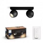Philips Hue 50472/30/P6 LED bodové svítidlo Buckram 2x5,5W GU10 2200-6500K - Bluetooth, s dálkovým ovladačem