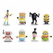 Set 8 figurine Minions Despicable Me 3