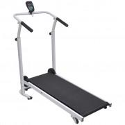 vidaXL Mini Treadmill Folding 93x36 cm Black