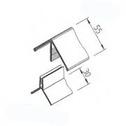 Rohový profil VinyTec V2117, složený, 55x30mm