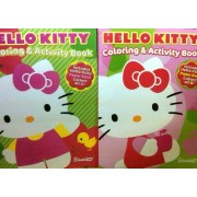 Hello Kitty 96 Page Coloring and Activity Book Set of 2 Assorted Books
