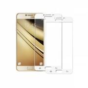 Set 2 folii protectie sticla securizata fullsize pentru Samsung Galaxy C5 / C5 Pro, alb
