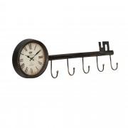 [en.casa]® Fali óra kulcstartó előszobába 88 x 7 x 26 cm ajándékötlet