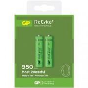 Gp Batteries Blister 2 Batterie Ricaricabili AAA Mini Stilo 950mAh GP ReCyko