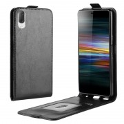 Sony Xperia L3 Vertical Flip Case with Card Holder - Black