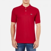 Lacoste Men's Basic Pique Short Sleeve Polo Shirt - Red - 2/XS - Red