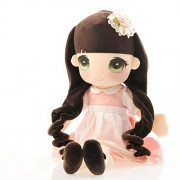 """HPPLGG 19.68"""" Sweet Plush Dolls Stuffed Big Eyes Girls Dolls for 1-6 Years Old Girl Gifts (Pink)"""