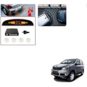 Auto Addict Car White Reverse Parking Sensor With LED Display For Mahindra Xylo