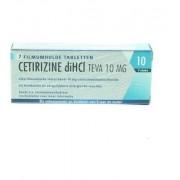 Teva Cetirizine Di Hci 10 Mg (7tb)