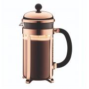 Bodum Chambord cafetiere 1 liter - zwart/koper