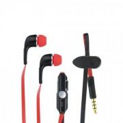 Универсални слушалки (с микрофон) 3.5mm - модел IN60 (черно-червено)
