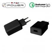 ADATTATORE CARICABATTERIA USB 5V 2A QC30 NERO IN BLISTER VT-1026-LED8794