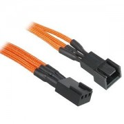 Cablu prelungitor BitFenix Alchemy 3-pini, 90cm, orange/black, BFA-MSC-3F90OK-RP