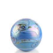 Kleine Glazen Bal Dieren Urn Elan Blue (0.5 liter)