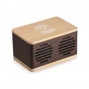 D70 Home Splicing Style Wood Grain Retro Bluetooth Speaker - Light Brown