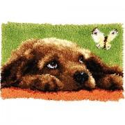 "Knüpfteppich ""Hund"" 53 x 39 cm"