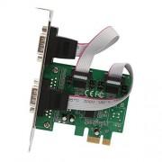 Syba SI-PEX15055 Tarjeta y Adaptador de Interfaz Interno De Serie Accesorio (PCIe, De Serie, RS-232, AX99100, 139.7 mm, 171.4 mm)