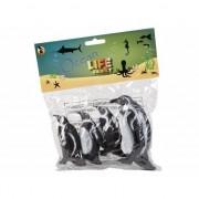 Geen Pingu?n familie gemaakt van rubber 4st