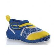 Fashy Blauw/gele kinder waterschoenen
