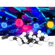 Party-LED-Lichterkette m. 20 LED-Birnen, 6 Watt, IP44, 4-farbig, 9,5 m | Lichterkette