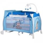Бебешка кошара 2 нива с люлеещ механизъм - Lorelli ILounge, Blue Music Boy, 0740275