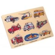 Wooden Transportation 9-piece Peg Puzzle