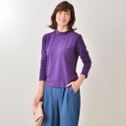 CLEO SUN テンセル混ラインストーン使いプルオーバー【QVC】40代・50代レディースファッション