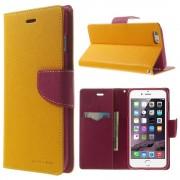 Mercury Pouzdro / kryt pro Apple iPhone 6 Plus / 6S Plus - Mercury, Fancy Diary YELLOW/HOTPINK