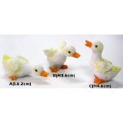 Wonderland Set of 3 - Poly resin chicken in White 2 inches Mini Miniature garden accessories for Bonsai / Planter Decoration / Terrarium / Kids room decoration