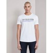 TOM TAILOR DENIM T-shirt met batik print, White, L