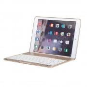 Javu - iPad Air 2 Toetsenbord Hoes - Bluetooth Keyboard Cover Shell Aluminium Goud